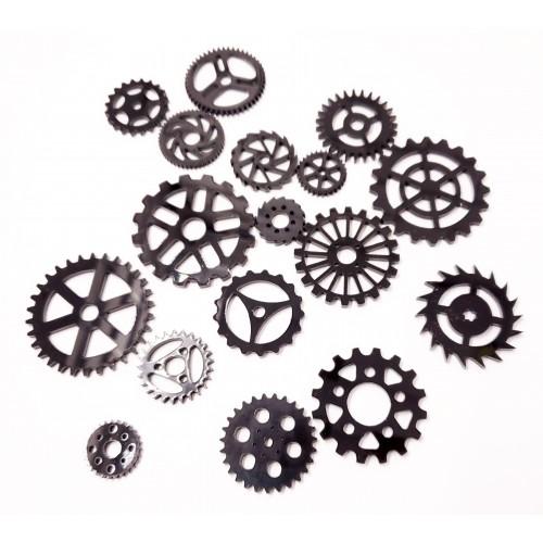 Acrylic Gears Black - Acrylic