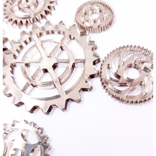 Mirror Acrylic Gears Bronze