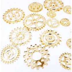 Mirror Acrylic Gears Gold