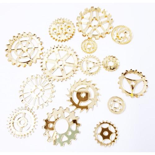Mirror Acrylic Gears Gold - Acrylic