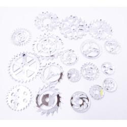 Mirror Acrylic Gears Silver