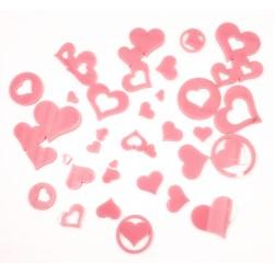 Acrylic Hearts Pink