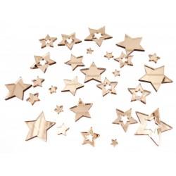 Mirror Acrylic Stars Bronze