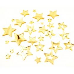 Mirror Acrylic Stars Gold