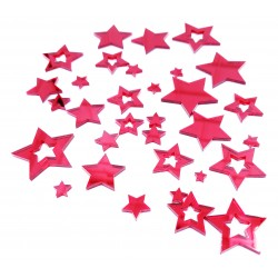 Mirror Acrylic Stars Red