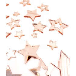 Mirror Acrylic Stars Rose Gold