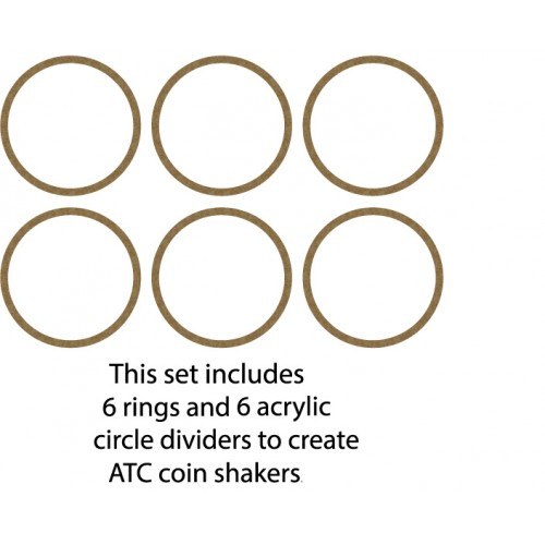 ATC Coin ring and Shaker Acrylic Pieces - Shaker Sets
