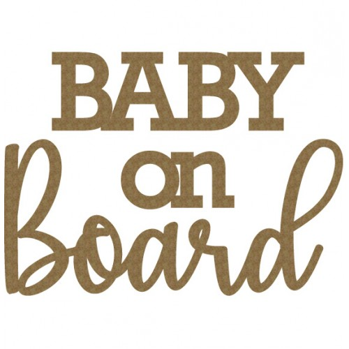 Baby on Board Title - Words