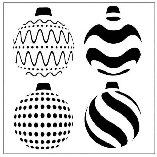 Bauble Stencil - Stencils