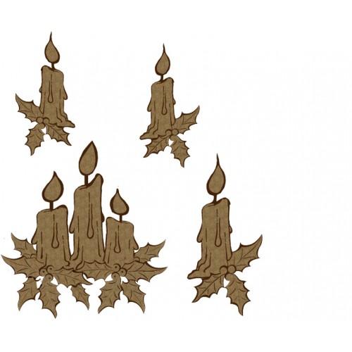 Christmas Candles - Flourishes