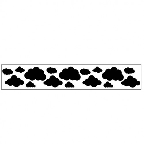 Cloud Border Stencil - Stencils