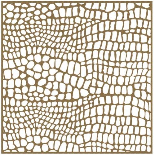 "Reptile Print Panel - 6"" x 6"" Lattice Panels"