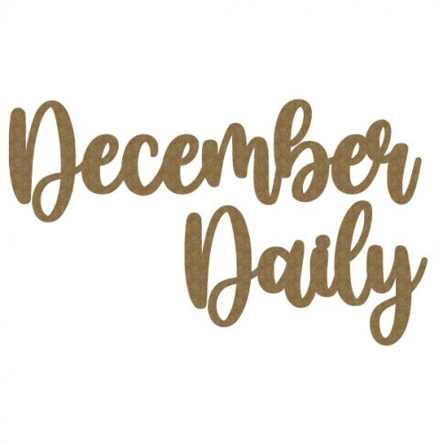 December Daily - Words