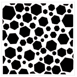 Distressed Hexagon Stencil