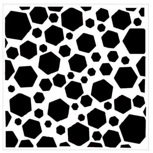 Distressed Hexagon Stencil - Stencils