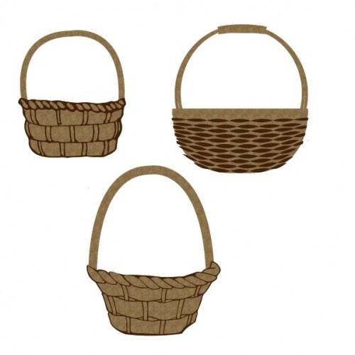 Easter Baskets - Chipboard