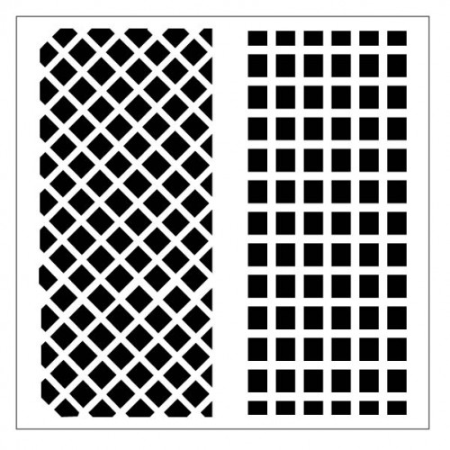 Fence Lattice Stencil - Stencils