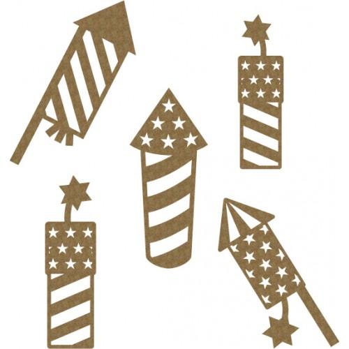 Fireworks - Chipboard