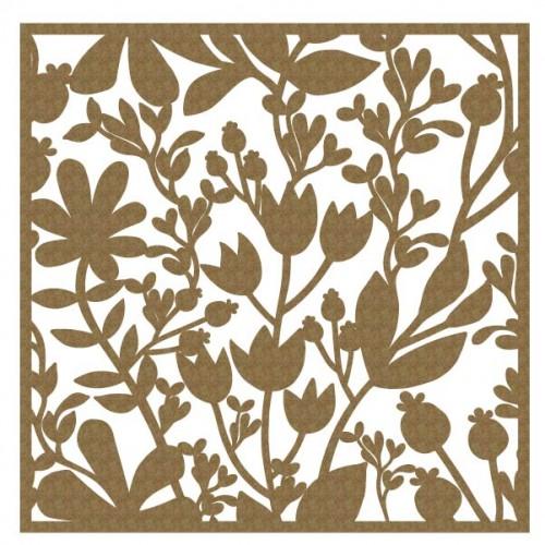 "Floral Panel 1 - 6"" x 6"" Lattice Panels"