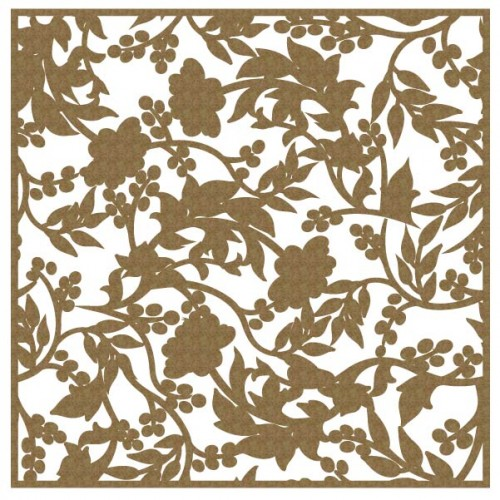 "Floral Panel 2 - 6"" x 6"" Lattice Panels"