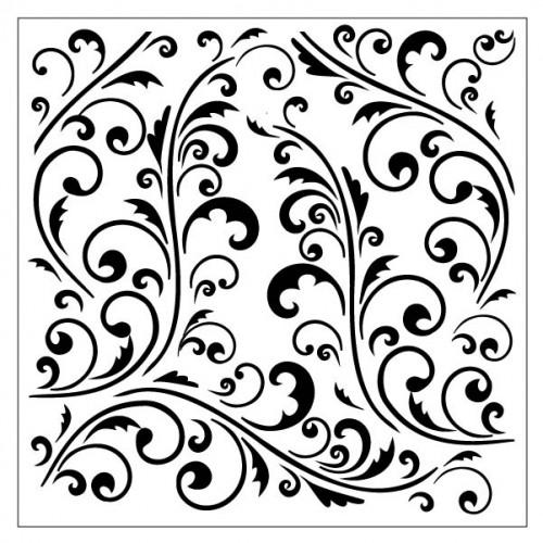 Flourish Stencil 3 - Stencils