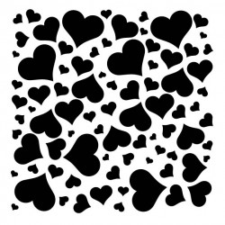 Full of Love Stencil