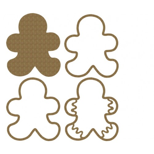 Gingerbread  Cookie Shaker - Shaker Sets