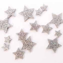 Small Silver Solid Star Set