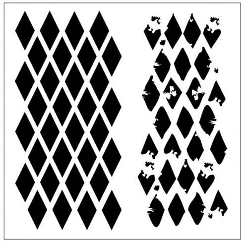 Harlequin Stencil - Stencils