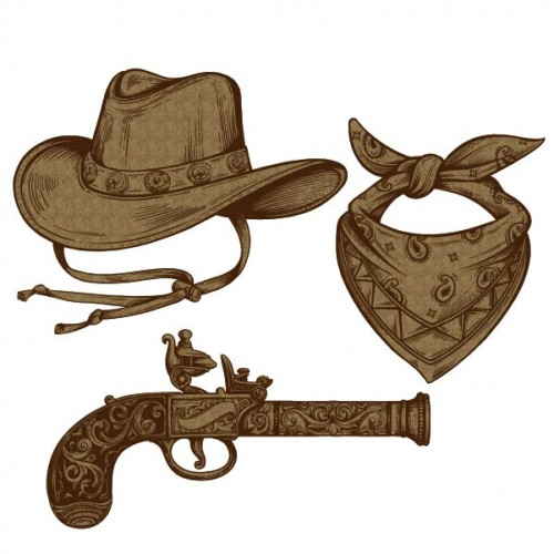 Cowboy Hat Set - Chipboard