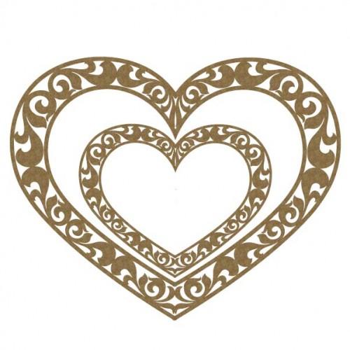 Ornate Heart Frames - Frames