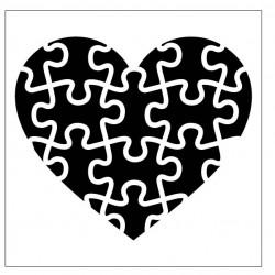 Puzzle Heart Stencil