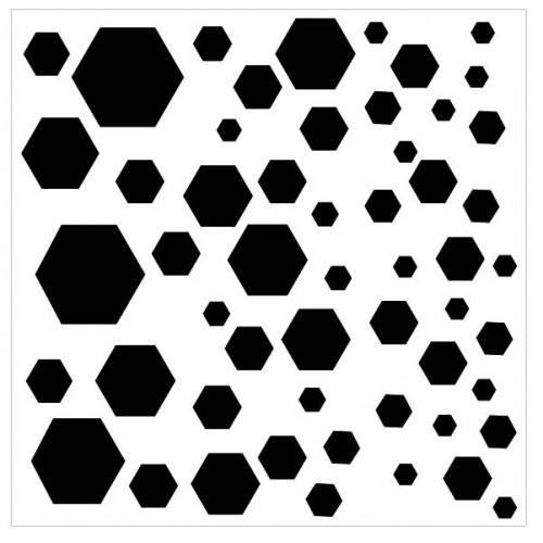 Hexagon Bokeh Stencil - Stencils