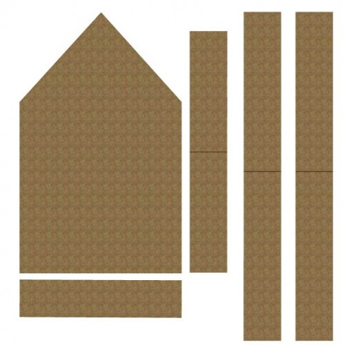 House Vignette (med) - Chipboard