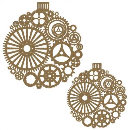 Large Steampunk Ornament pair