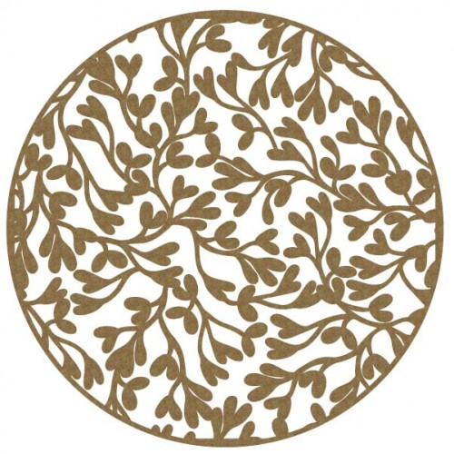 Large Leaves Circle - 12 x 12 Chipboard Panels