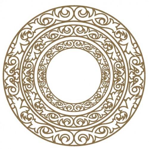 Ornate Circle Frames - Frames