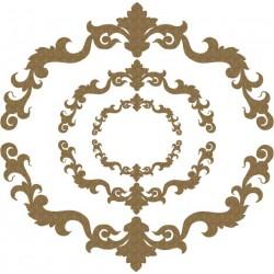 Ornate Half Circle Pieces