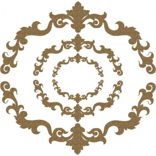 Ornate Half Circle Pieces - Photo / Page Corners