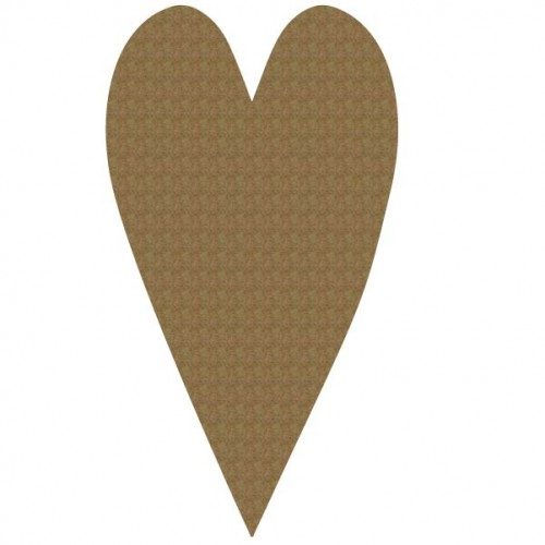 Large Heart - Chipboard