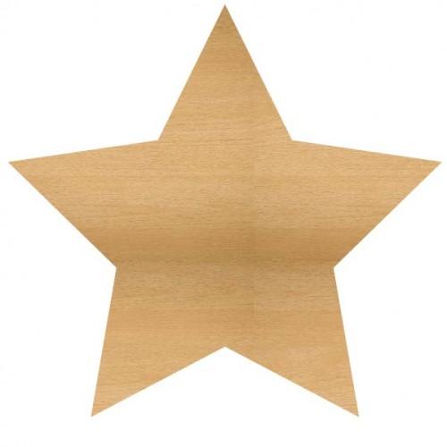 Star Wood Large - Home Decor