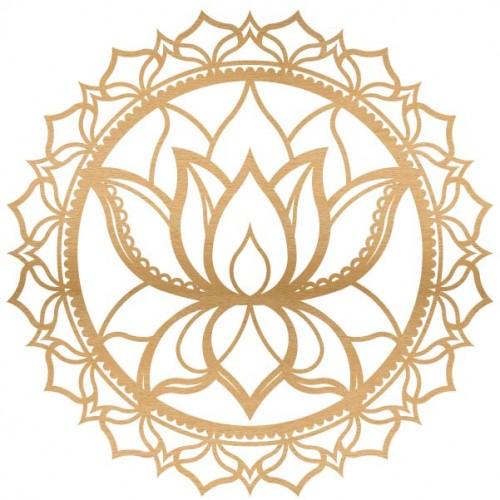 Lotus Mandala Wood - Home Decor