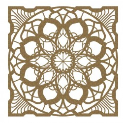 Layered Mandala Chipboard