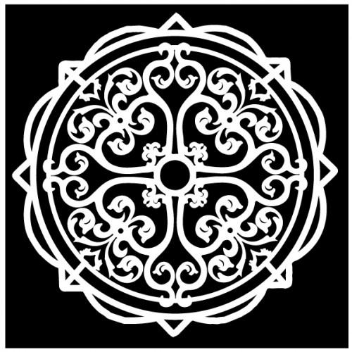 Medallion Stencil - Stencils