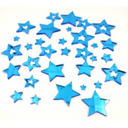 Mirror Acrylic Blue Star pieces