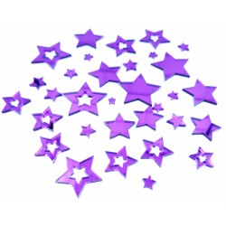 Mirror Acrylic Purple Star pieces