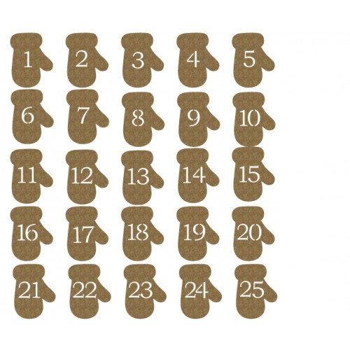 Mitten Countdown - Chipboard