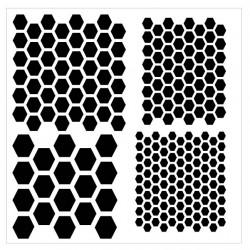 Multi Hexagon Stencil