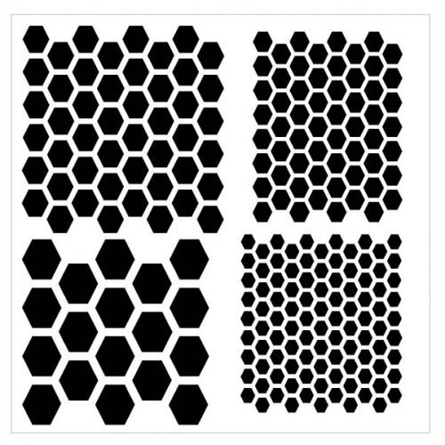 Multi Hexagon Stencil - Stencils