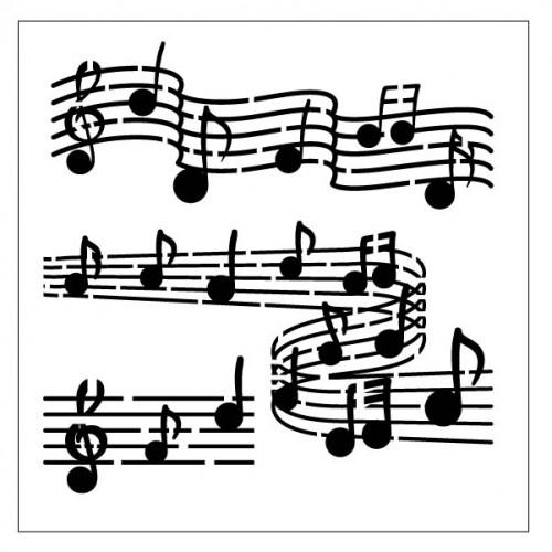 Music Bar Stencil - Stencils